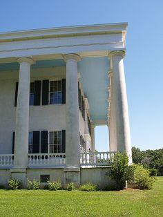 Greenwood Plantation House, Louisiana   I love the wrap around ground level porch