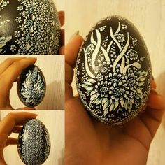 scratched polish egg