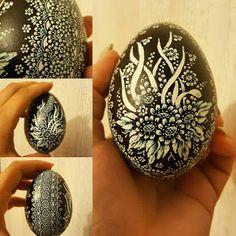 scratched polish egg