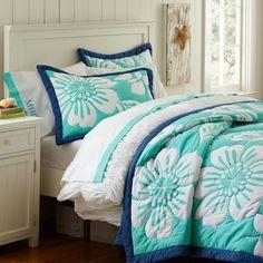 cute teen bedding | tonal waterfall ruffle duvet cover | bed ... : hawaiian bed quilts - Adamdwight.com