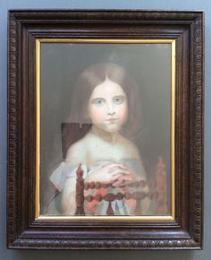 Mid 19th Century Antique FRENCH PASTEL PORTRAIT, Young Girl, Framed Picture  | eBay