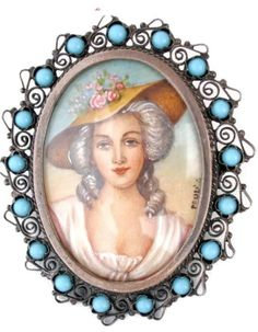 ON SALE Victorian Miniature Portrait 800 by TheJewelryLadysStore, $200.00