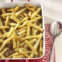 Cheeseburger 'n' Fries Casserole Recipe from Taste of Home