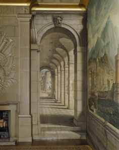 The Devoted Classicist: Rex Whistler Murals A panel at one of the ends of the room.  National Trust Images.
