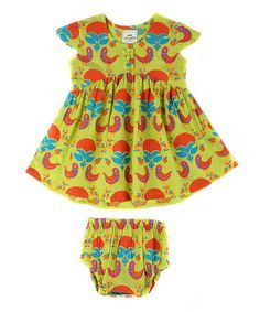 Look at this #zulilyfind! Light Green Lucy Dress & Bloomers - Infant by Child of the World #zulilyfinds