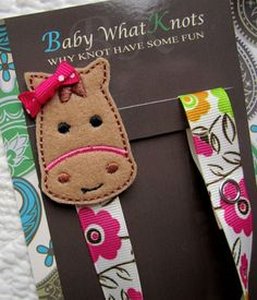 Girl Pacifier Clip, Horse Pacifier Clip, Flower Pacifier Holder, pchorse03 on Etsy, $9.25