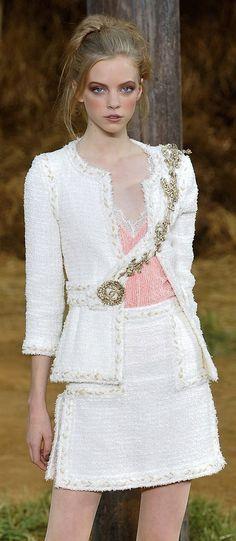 Chanel white suit 2014 fashion