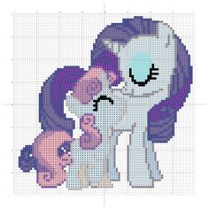 Sweetie Belle and Rarity cross stitch pattern