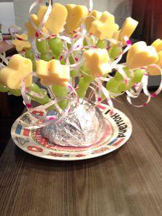Kinder traktatie gezond kaas druiven toverstok