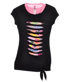 Beautees Hacienda T-Shirt  Sizes 7 - 16  - black  8/10From #Beautees Price: $11.99 Availability: Usually ships in 24 hoursShips From #and sold by COOKIESKIDS