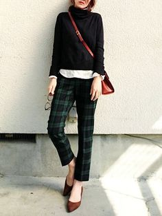 Plaid + Black