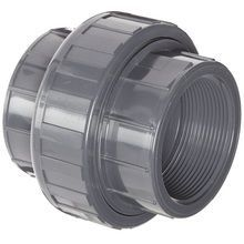 """1/4"""""""" PVC Schedule 80 Union (FPT x FPT) Viton O-Ring"""