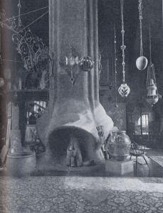 Fireplace in Louis Comfort Tiffany's studio, NYC c 1880