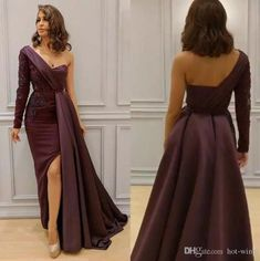 Sparkly Mermaid Burgundy Mermaid Prom Dresses Sexy One Shoulder Long Sleeves Lace Appliqued Side Split Formal Evening Gowns on Storenvy Evening Dresses Plus Size, Lace Evening Dresses, Evening Gowns, Dinner Gowns, Fancy Wedding Dresses, Mermaid Prom Dresses, Prom Gowns, Side Split, Formal Prom