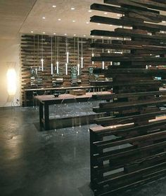 Candles in the Wind lights by Mance Design for Woods Bagot at Lucespace Bondi Junction, Sydney
