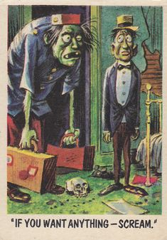 """""""You'll Die Laughing"""" Topps trading cards 1959,  illustrated by Jack Davis (51)"""