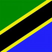 The flag of Tanzania. Bold colors. It is such fun to see a flag with a completely diagonal theme. It must look lovely flying in a gentle breeze.