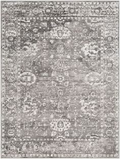 Mistana Elson Power Loom Polypropylene Gray/Ivory Area Rug Rug Size: Rectangle x Boho, Transitional Rugs, Rug Material, Power Loom, My Living Room, Rugs Online, Online Home Decor Stores, Runes, Colorful Rugs