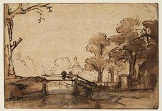Rembrandt Harmensz. van Rijn (1606 - 1669) (tekenaar) Titel Landschap met een brug