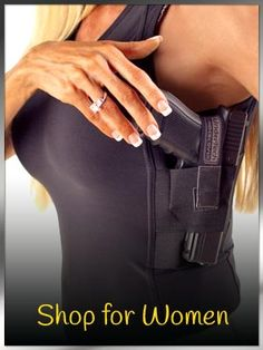 Women's Shooting Accessories and Gifts Articles and Information for Women Gun Owners Women's Shooting Courses Concealed Carry Women, Concealed Carry Holsters, Women's Shooting, Women Shooting Guns, Shooting Accessories, Camping, Self Defense, Girls Be Like, Swagg
