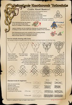 Celtic Knot Tutorial: Basics I by Feivelyn.deviantart.com on @deviantART