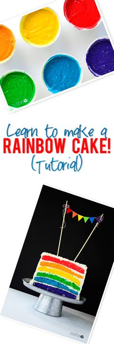 Learn how to make a Rainbow Cake howdoesshe.com this is awesome!!