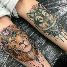 75 Tatuajes de leones para mujer 2017, brillantes!