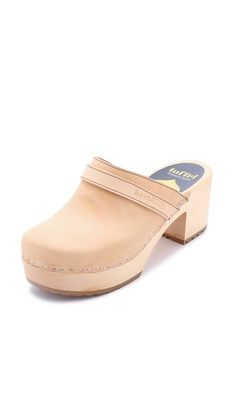 Swedish Hasbeens Plateau Clogs