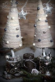 White Sun Cottage: toukokuuta 2015 na Stylowi. Jewelry Christmas Tree, Christmas Tree Crafts, Christmas Projects, Holiday Crafts, Christmas Decorations, Mary Christmas, Christmas Makes, Christmas Holidays, Christmas Flower Arrangements