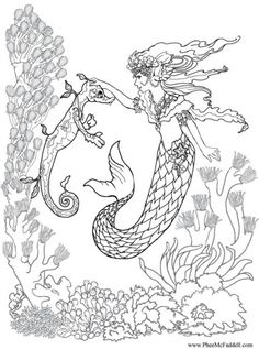 Coloring Pages Of Mermaids