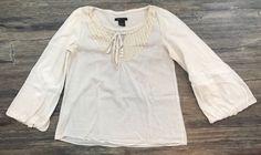 BCBG Maxazria Top Boho Flared Sleeves Medium 57B | eBay