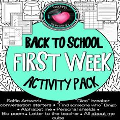 Back to school First week get to know you bundle - Teaching for the love of it.
