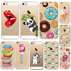 For Apple iPhone 5 5S SE Phone Case New Arrival Hot Soft TPU Phone Skin Case Transparent Clear Back Case Cover