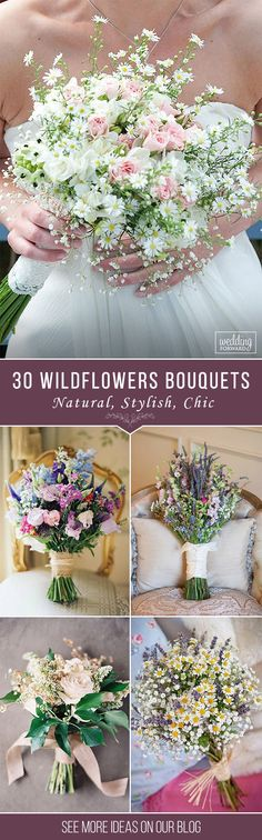 30 Wildflower Wedding Bouquets Not Just For The Country Wedding ❤ See more: http://www.weddingforward.com/wildflower-wedding-bouquets/ #wedding #bouquet