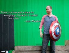 """Joss gets you!   """"There is a time and a place for everything. I believe it is called 'fan fiction'."""""""