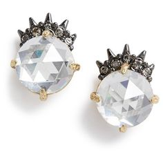 Alexis Bittar'Elements'Spiked Crystal Stud Earrings ($95) ❤ liked on Polyvore featuring jewelry and earrings