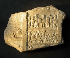 One of 22 carved stone plaques that date back to the early Roman empire and tell the story of the Trojan War in picture and text.