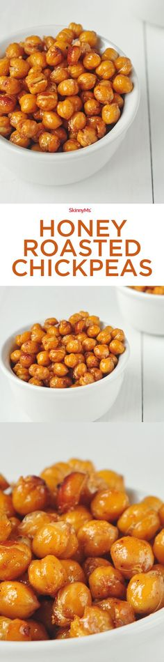 Whip up a batch of these healthy Honey Roasted Chickpeas to put on salads or to enjoy as a snack!