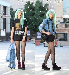Get this look: http://lb.nu/look/7766706  More looks by Mickylene Delgado: http://lb.nu/user/85583-Mickylene-D  Items in this look:  T.U.K. Footwear Burgundy Mondo Boots   #edgy #grunge #punk