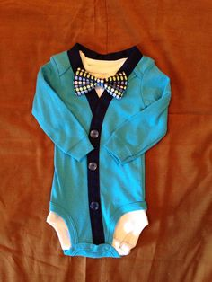 Anthony - Baby Boy Clothes – Newborn Outfit - Infant Bowtie Cardigan- Photo Prop- Shower Gift- Preppy- Ring Bearer-Christol and Company
