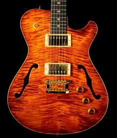 New Knaggs Influence Tier 2 Chena Hollowbody II Electric Guitar Aged Scotch | eBay