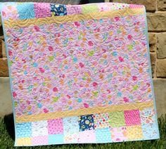 Wildflower Meadow Baby Quilt Kit Animals Riley Blake - Sunnyside Designs - 3