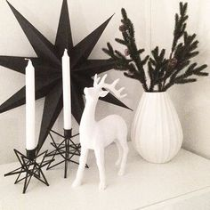@hus10a posted this great picture of a #blackandwhite #christmas with my #relieff #vase for @porsgrundsporselaensfabrik . This is #nordicstyle the way I like it. #clean #simple #delicate and with a #touchofhumor ❄️ #holidaystyle #holidayseason #nordicdesign #norskehjem #norwegiandesign #porcelain #porsgrund #porselen #norskdesign