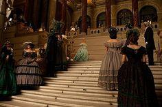 masquerade ball scene from The Raven