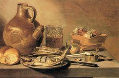 """Still-life""  --  1644  --  Pieter Claesz  --  Dutch  --  Oil on canvas  --  Private Collection"