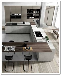 amazing luxury kitchens design ideas with modern style 1 « Home Design Kitchen Room Design, Luxury Kitchen Design, Luxury Kitchens, Home Decor Kitchen, Interior Design Kitchen, Home Kitchens, Kitchen Ideas, Cuisines Design, Kitchen Styling