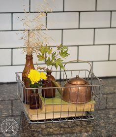 5 Simple Tips for Styling Beautiful Fall Baskets Southern Homes, Fall Table, Wire Baskets, Autumn Home, Table Decorations, Simple, Tips, Decorating Ideas, Beautiful