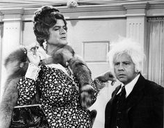 Harvey Korman and Tim Conway on The Carol Burnett Show as their most famous recurring characters. (Korman as Mother Marcus and Conway as The Oldest Man!)