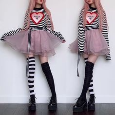 Again, my love for checkered things has resurfaced in today's outfit. Again, my love for checkered things has resurfaced in today's outfit. Grunge Outfits, Pastel Goth Outfits, Pastel Goth Fashion, Edgy Outfits, Mode Outfits, Kawaii Fashion, Lolita Fashion, Cute Fashion, Fashion Outfits