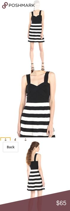 Trina by Trina Turk Envy Stripe perfect condition Sold Out Trina by Trina Turk Women's Envy Stripe Stitch Fit N Flare Knit Dress  Worn once, no flaws  100% Cotton Full lining: 100% Cotton Pull over Cotton fabric Sweetheart neckline Sleeveless Country of Origin: China Trina Turk Dresses Mini